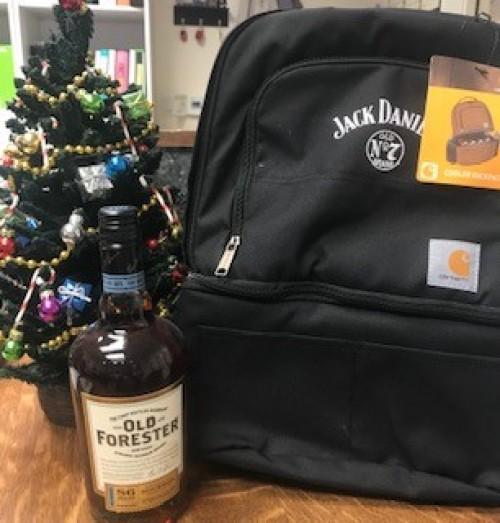 Jack Daniels Cooler Backpack and Old Forester!