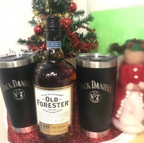 Old Forester and 2 Jack Daniels Yeti Cups!